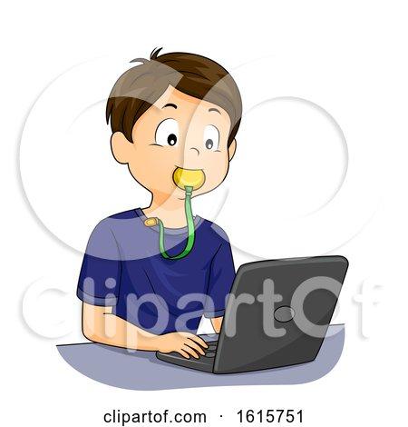 Kid Boy Sensory Chew Toy Fidget Illustration by BNP Design Studio