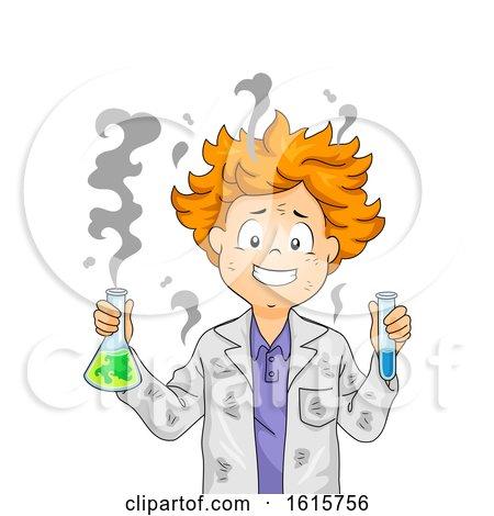 Kid Boy Fail Experiment Illustration by BNP Design Studio