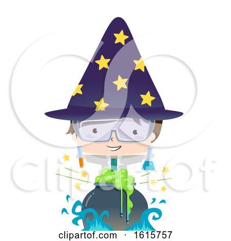 Kid Boy Science Potion Illustration by BNP Design Studio