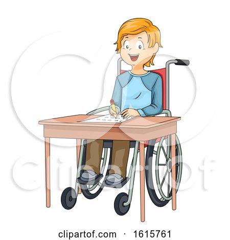 Kid Boy Wheelchair Exam Illustration by BNP Design Studio