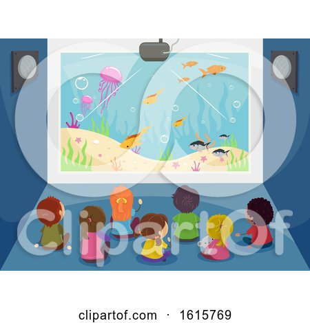 Stickman Kids Big Screen Underwater Illustration by BNP Design Studio