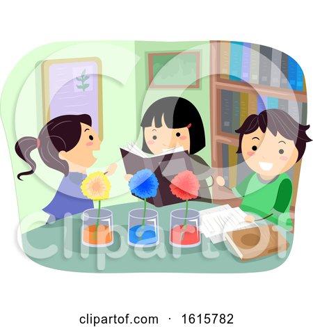 Stickman Kids Plant Absorb Color Illustration by BNP Design Studio
