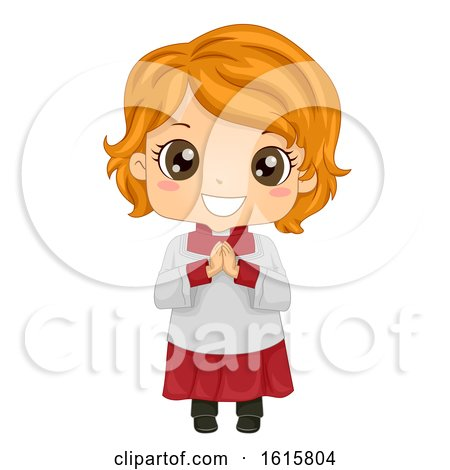 Kid Girl Altar Server Illustration by BNP Design Studio