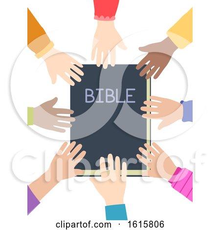 Kids Hands Bible Illustration by BNP Design Studio