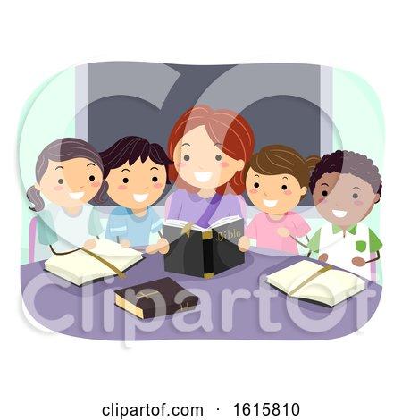 Stickman Kids Bible Study Teacher Illustration by BNP Design Studio