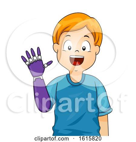 Kid Boy Prosthetic Arm Illustration by BNP Design Studio