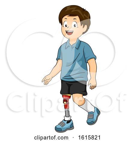 Kid Boy Prosthetic Leg Illustration by BNP Design Studio