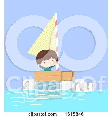 Kid Boy Boat Plastic Illustration by BNP Design Studio