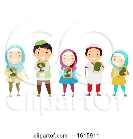 Stickman Kids Muslim Quran Illustration by BNP Design Studio
