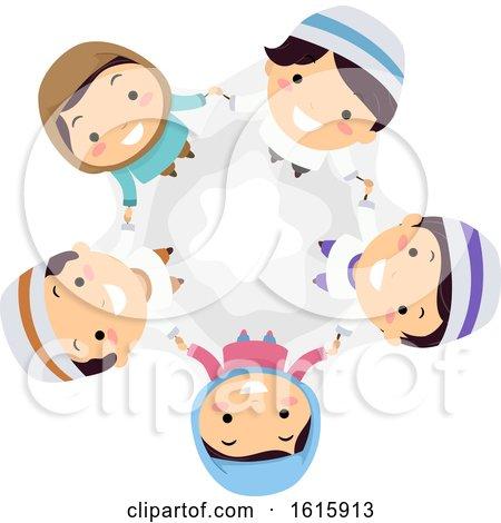 Stickman Kids Muslim Team Illustration by BNP Design Studio