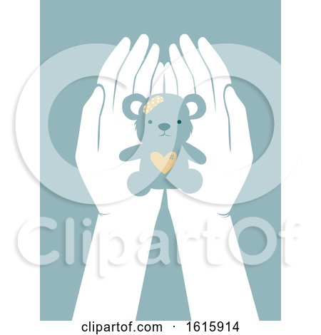 Hands Helping Children Abused Illustration by BNP Design Studio