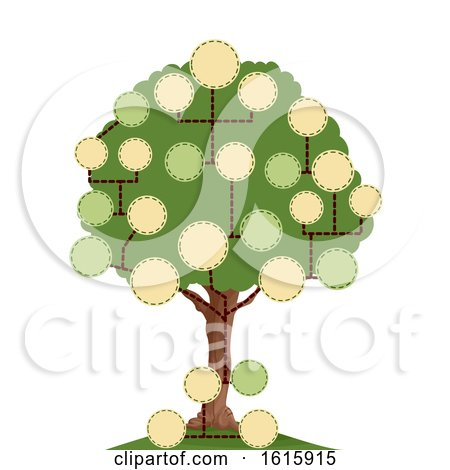 Tree Blank Family Tree Illustration by BNP Design Studio