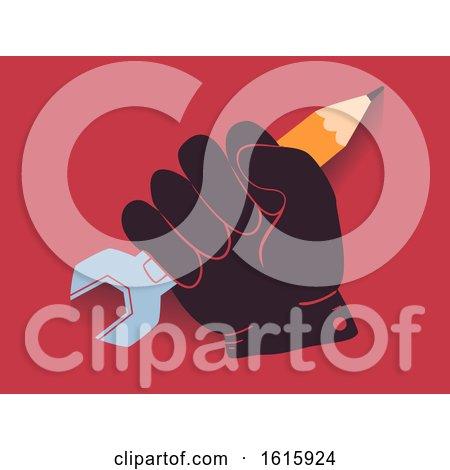 Hand Child Labor Awareness Illustration by BNP Design Studio
