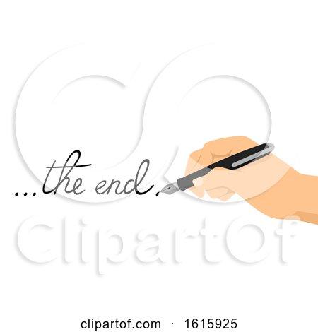 Hand Fountain Pen Creative Writing Illustration Posters, Art Prints