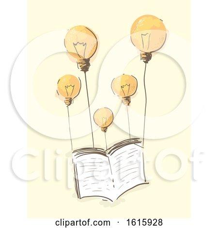 Book Light Bulb Balloons Illustration by BNP Design Studio