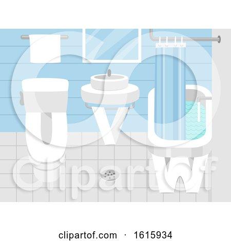 Letters Bathroom Illustration by BNP Design Studio