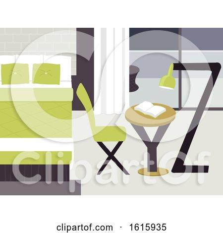 Letters Bedroom Illustration by BNP Design Studio