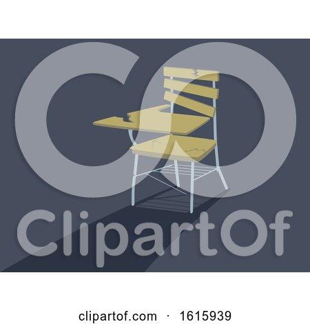 School Armchair Broken Illustration by BNP Design Studio