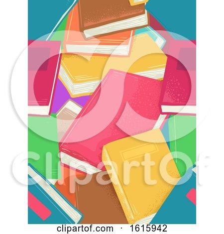 Books Seamless Background Illustration by BNP Design Studio