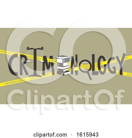 Criminology Lettering Design Illustration by BNP Design Studio