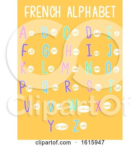 French Alphabet Illustration by BNP Design Studio