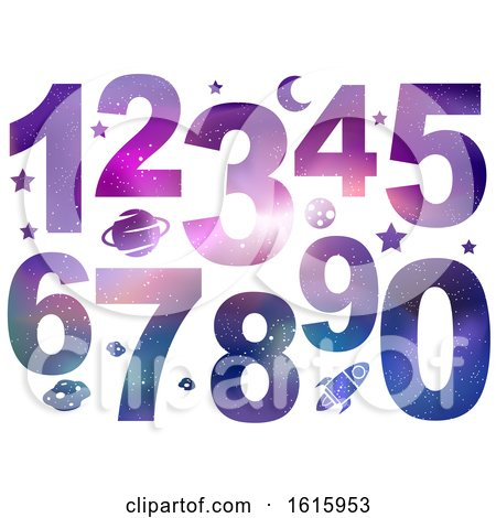 Numbers Space Theme Illustration by BNP Design Studio