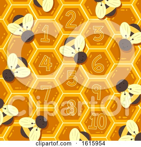 Spring Bee Hive Numbers Illustration by BNP Design Studio