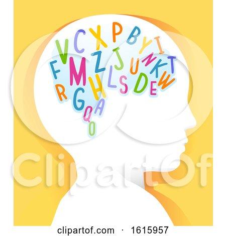 Kid Head Learn Alphabet Illustration by BNP Design Studio