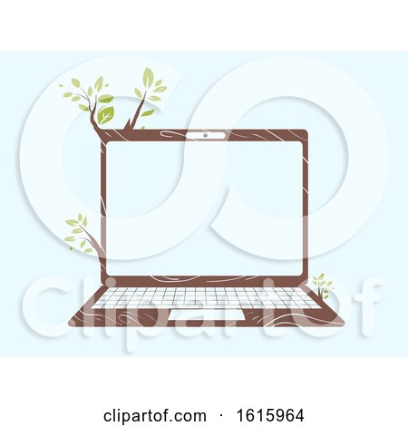 Laptop Eco Friendly Illustration by BNP Design Studio