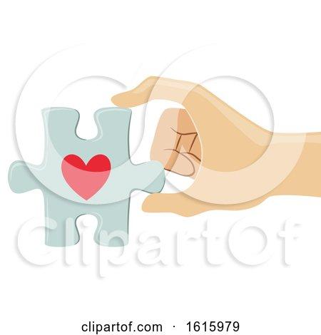 Hand Organ Donation Heart Puzzle Illustration by BNP Design Studio