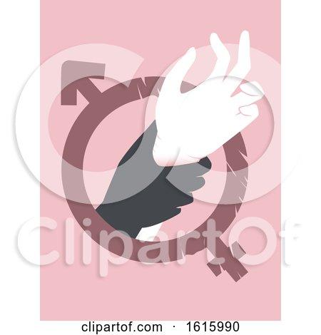Hand Sexual Abuse Awareness Illustration by BNP Design Studio