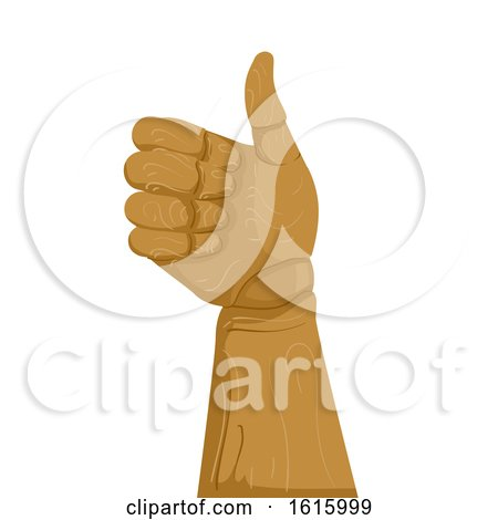 Wooden Hand Ok Illustration by BNP Design Studio