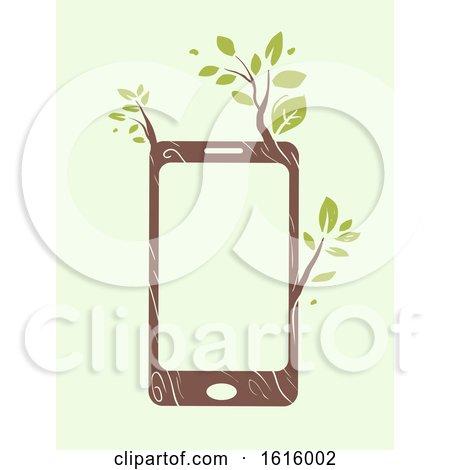 Mobile Phone Eco Friendly Illustration by BNP Design Studio