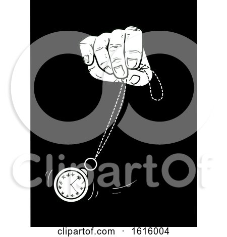 Hand Hypnosis Clock Sway Illustration by BNP Design Studio