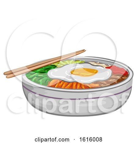 Korean Food Bibimbap Illustration by BNP Design Studio