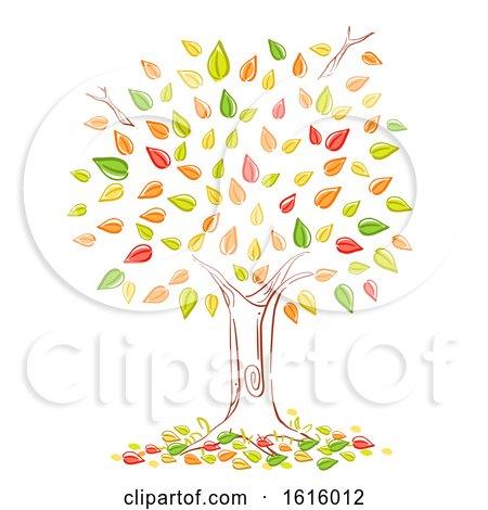 Tree Autumn Season Illustration by BNP Design Studio