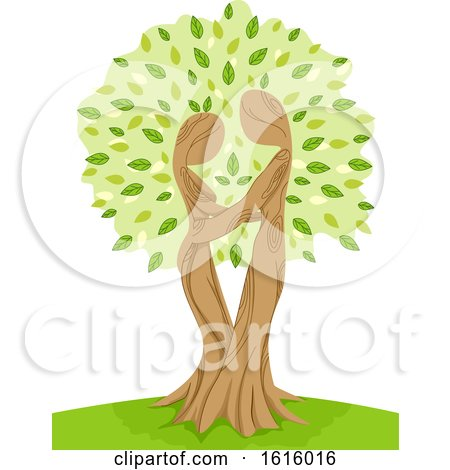 Tree Hug Illustration by BNP Design Studio