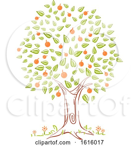 Tree Spring Season Illustration by BNP Design Studio