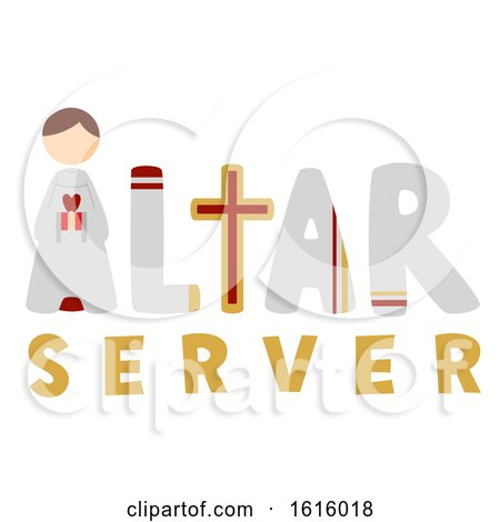 Altar Server Illustration by BNP Design Studio