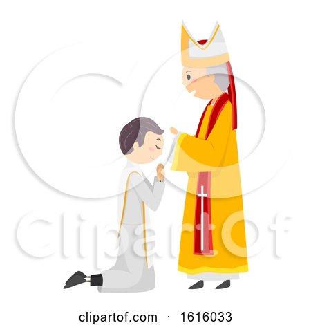 Stickman Priest Ordination Illustration by BNP Design Studio