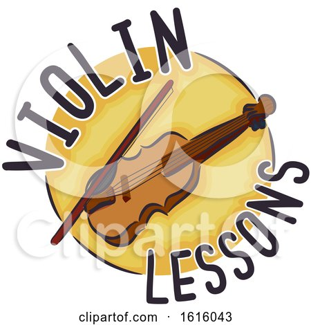 Violin Lessons Icon Illustration by BNP Design Studio