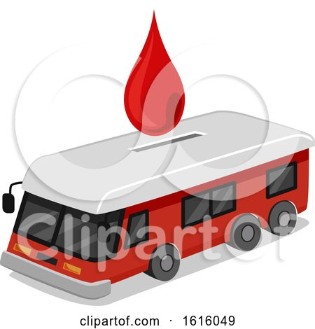 Donate Blood Collection Bus Illustration by BNP Design Studio