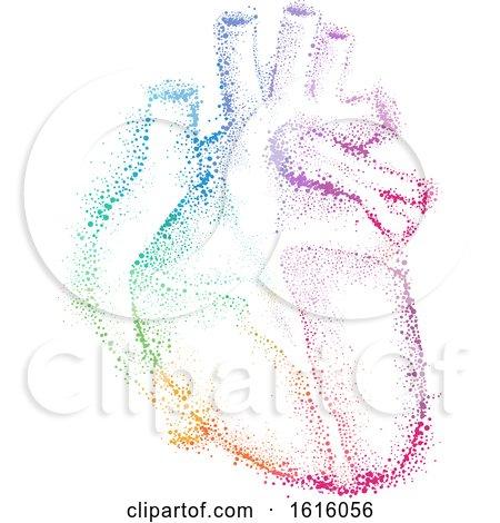 Pointillism Heart Illustration by BNP Design Studio