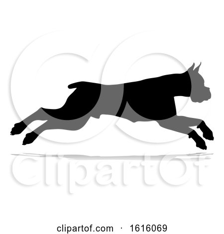 Dog Silhouette Pet Animal, on a white background by AtStockIllustration