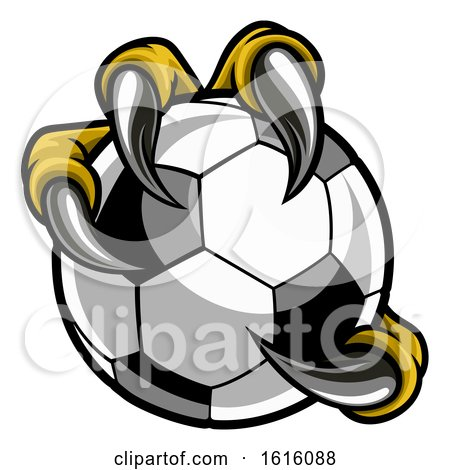 Eagle Bird Monster Claw Talons Holding Soccer Ball by AtStockIllustration