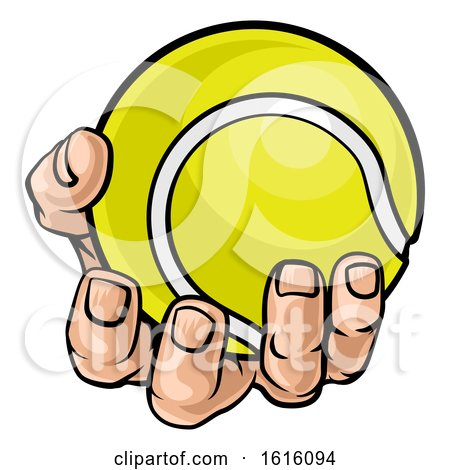 Hand Holding Tennis Ball by AtStockIllustration