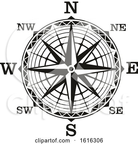 Clipart of a Compass - Royalty Free Vector Illustration by Vector Tradition SM