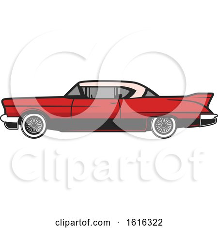 Clipart of a Classic Car - Royalty Free Vector Illustration by Vector Tradition SM