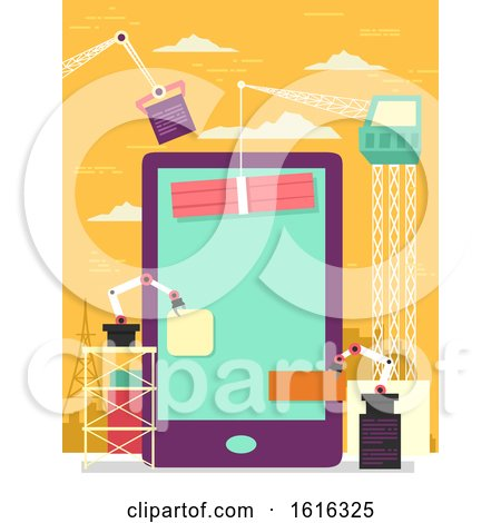 Mobile Apps Construction Illustration by BNP Design Studio