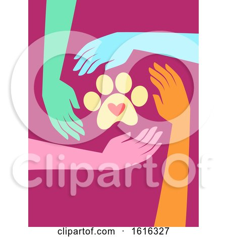 Hands Animal Welfare Charity Illustration by BNP Design Studio